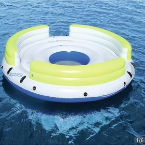 Inflatable swim up tube